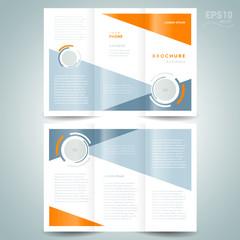 brochure design template vector trifold geometric abstract circl