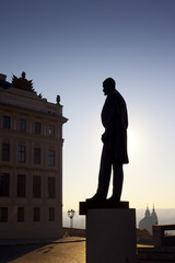Tomas Garrigue Masaryk statue in Prague, Czech Republic