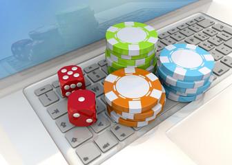 Online Casino Concept - 3D