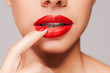 canvas print picture - Passion lips.