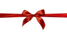 Czerwona wstążka prezent