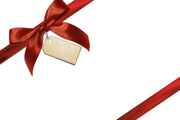 Red gift ribbon with card