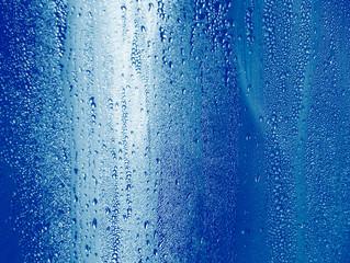 bubble wet cooler on metal blue color