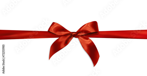 Leinwanddruck Bild Red gift ribbon