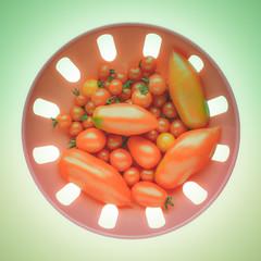 Retro look Tomato vegetable