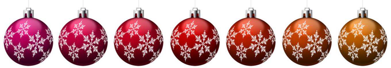 Boules de Noël rouges avec motifs