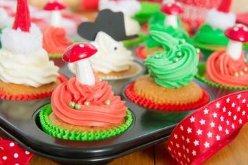 Baking Christmas cupcakes