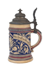 Bavarian German Beer Mug Isolated