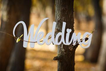 word wedding
