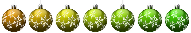 Boules de Noël vertes avec motifs