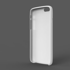White plastic case mock-up for smartphone. Inner view