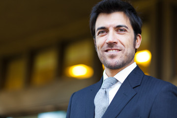 Confident smiling mature businessman