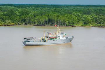 Schiff im Mekong Delta Vietnam