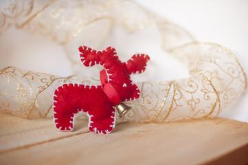 Christmas deer fleece handmade