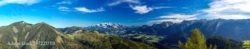 canvas print picture Panorama Richtung Dachstein