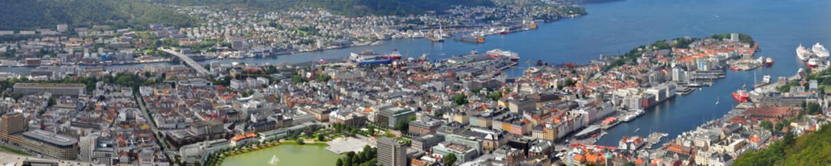 Bergen, Norwegen - Panorama