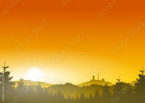 Brocken Harz Sonne - 72217384