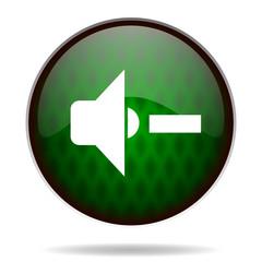 speaker volume green internet icon