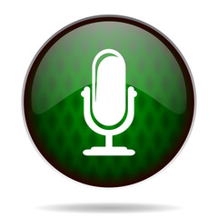 microphone green internet icon