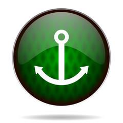 anchor green internet icon
