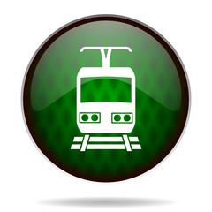 train green internet icon