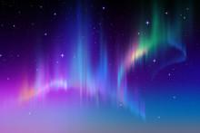 "Постер, картина, фотообои ""Aurora Borealis in starry polar sky, illustration"""