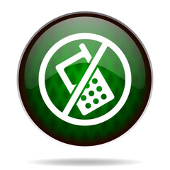 no phone green internet icon