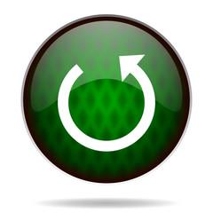 rotate green internet icon