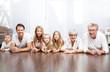 Leinwanddruck Bild - big modern family