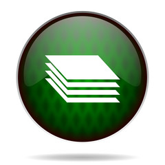 layers green internet icon
