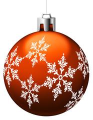 Boule de Noël orange avec motifs