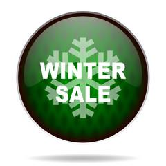 winter sale green internet icon
