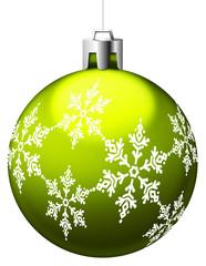 Boule de Noël verte clair avec motifs