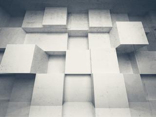 Fototapeta 3D betonowe bloki