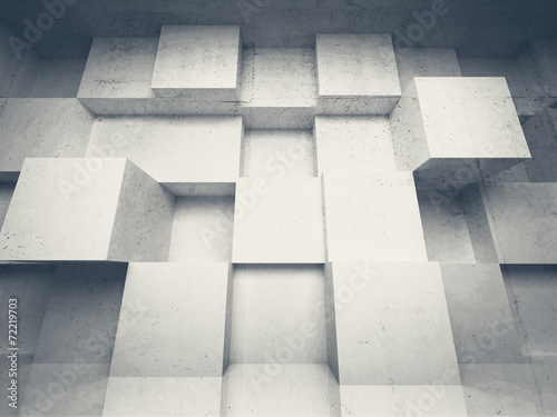 Abstract 3d architecture background with white cubes