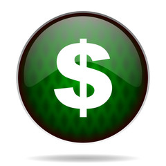 dollar green internet icon