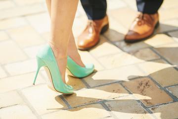 Tourquoise women heel