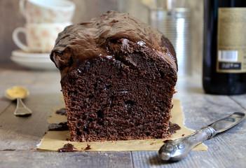 Chocolate beer cake.