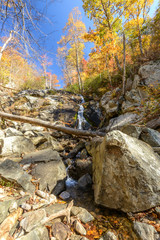 Falling Waters Cascades on the Blue Ridge Parkway in Autumn