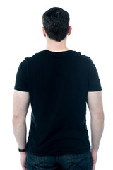 Rear view of a casual man