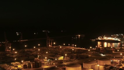 Cruises in the Indstrial Port of Barcelona Zoomed Time Lapse