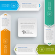 Infographics Vector Background 4-Step Process