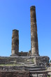 canvas print picture - Ancient ruins of Pompei, from the forum.