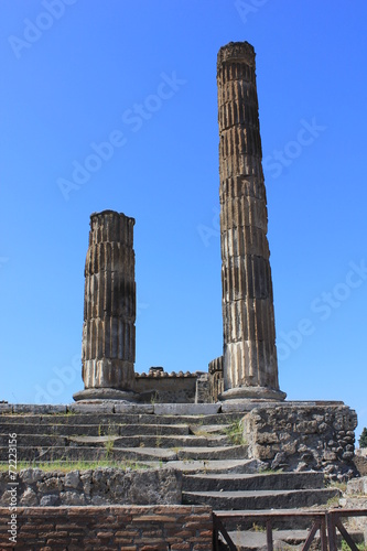 canvas print picture Ancient ruins of Pompei, from the forum.