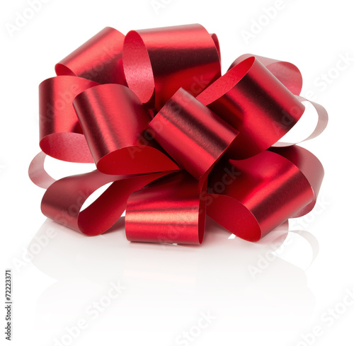 red bow isolated on the white background - 72223371