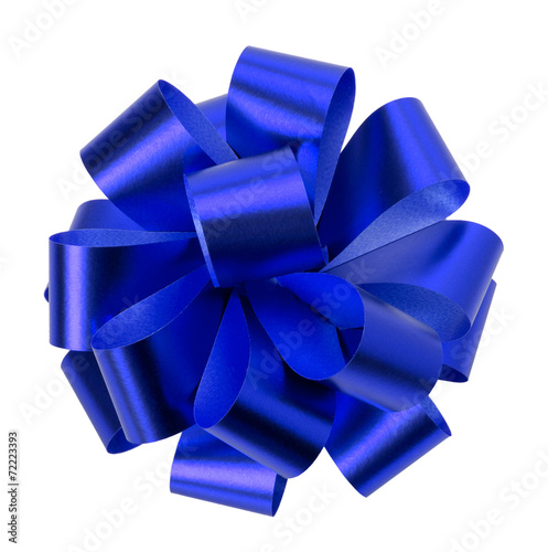 blue bow isolated on the white background - 72223393