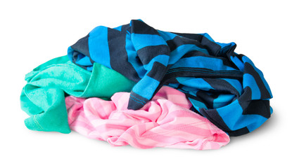 Heap Of Crumpled Colourful Clothes