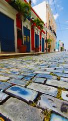 Calle con Adoquines en el Viejo San Juan. Puerto Rico