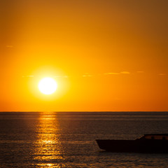 sunset over the sea in Madagascar