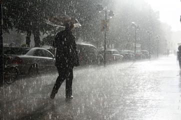 Regen in Helsinki, Finnland